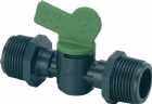 "Ball Valve Tap 1/2"" M x 1/2"" M Threads"